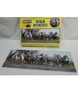 """Breyer 100 Pc Puzzle Wild Horses Panorama Scene 19""""x6 3/4"""" complete - $14.85"""
