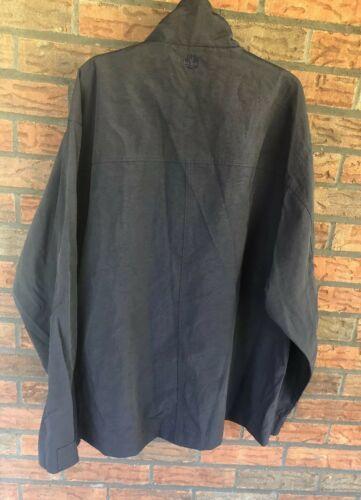 Timberland Black Medium Jacket Weather Gear Full Zip Windbreaker Nylon EUC