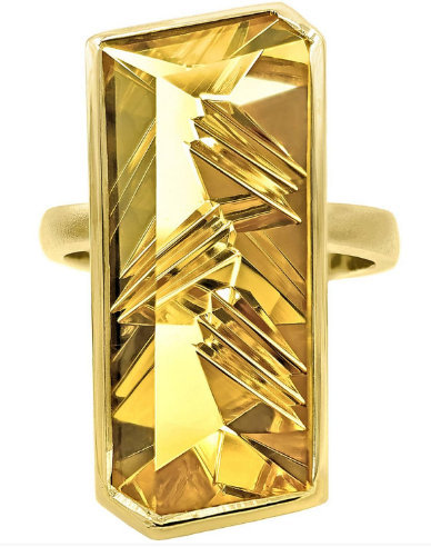 925 Sterling Silver Natural Fine Quality Citrine Glass Field And Cz Gemstone Han image 3