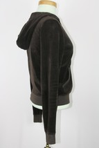 Juicy Couture Womens Brown Full Zip Hooded Jacket Sz L - $10.69