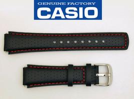 CASIO EDIFICE EFA120L WATCH BAND STRAP BLACK17mm Leather EFA-120L WITH 2... - $24.45