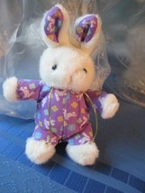 White and Purple Easter Bunny Lippe Chinne Limited - $10.99