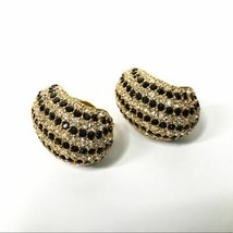 CINER Vintage Gold Tone Crystal Clip On Earrings - $59.40