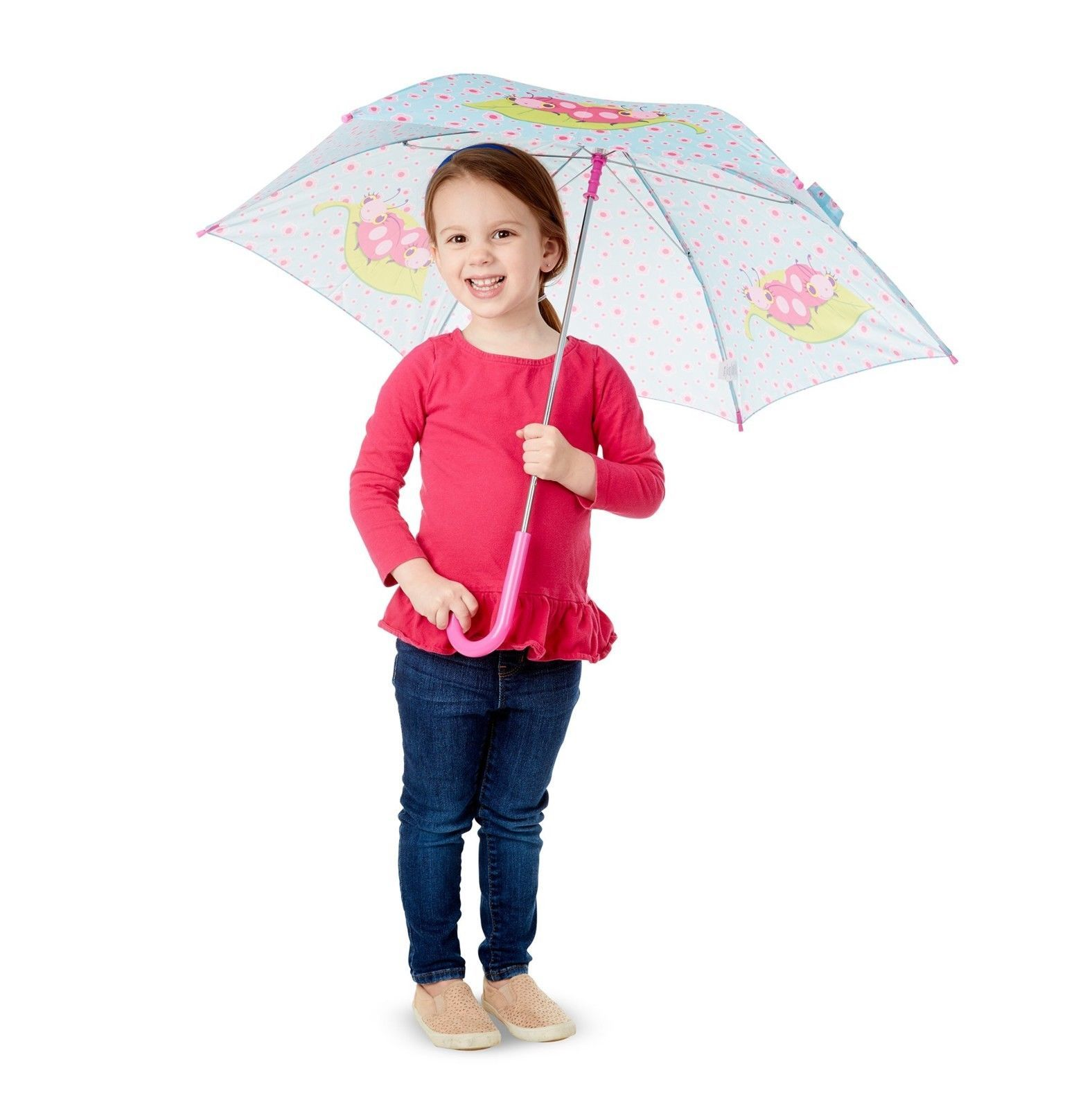 Melissa Doug Trixie Ladybug Umbrella for Kids With Safety Open and Close