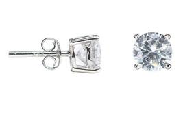 Ice by Jardin 6 Cts Et Rond Zircone Cristal Argent Sterling Boucles D'Oreilles