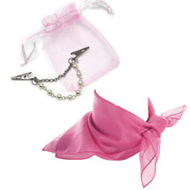 Pearl & Chain Sweater Guard & Scarf Set - Organza Bag - 50s Style by Hey... - $20.00