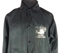 Ohio Army National Guard Mens Large Light Jacket Button Up Black Vintage 1970s - $74.24