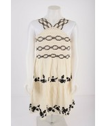 Zara Girls Dress Sz 11-12 yrs 152 cm Ivory Black Sleeveless Embroidery 3... - $34.64