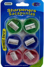 Pencil Sharpeners - 6 Pack Assorted Colors Case Pack 48 - $102.38