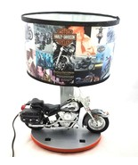 Harley Davidson Heritage Softail Motorcycle Table Accent Lamp Nightlight... - $98.84