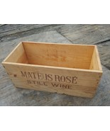 Vintage Mateus Rose Wine Wood Box crate - $13.00