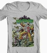 Inhumanoids T-shirt retro Saturday Cartoon 80s comic toy style graphic tee grey image 1