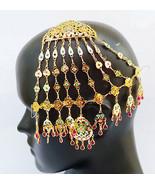 INDIAN JHUMAR PASSA HIJAB JHOOMAR HEAD PIECE JEWELLERY HAIR BUN PIN SIDE... - $24.23