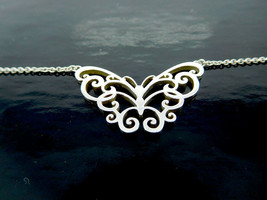 Tiffany Butterfly Pendant Necklace in Sterling Silver 925 - $340.00