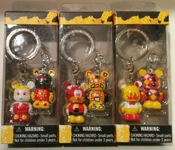 Lot of 3 Disney Vinylmation Jr. Pairs  Keychains - Tinkerbell Goofy Donald Duck - $21.78