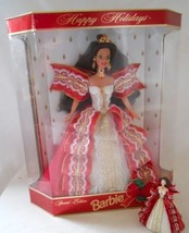 1997 Happy Holidays Brunette Barbie Hallmark 10th Anniversary Edition & ... - $29.65