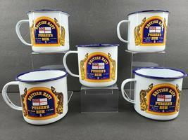 5 Pusser's Rum British Royal Navy Mugs Set Vintage Bar Toast Tin Enamel ... - $118.47