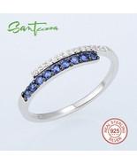 SANTUZZA Jewelry Set for Women Blue Nano Cubic Zirconia Jewelry Set Earr... - $59.73