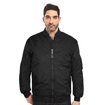 Maximos USA Men's Padded Water Resistant Reversible Flight Bomber Jacket (XL, Bl
