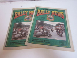2 1995 LACONIA RALLY NEWS BOOKLETS 72ND LACONIA NH MOTORCYCLE RALLY & RA... - $9.99