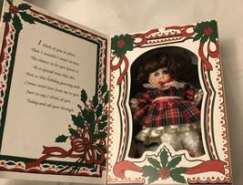 Vintage Knickerbocker Marie Osmond Fine Porcelain Christmas Greeting Card Doll - $7.92
