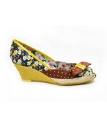 Poetic Licence Charmed Life Wedge Shoes Espadrille 7.5 Tobacco Floral - $78.00