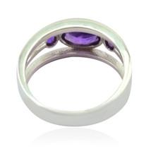 Good Gemstones Fancy Shape Faceted Amethyst rings - 925 Silver Purple Am... - $12.99