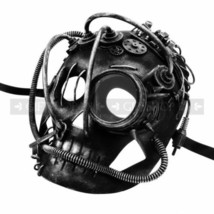 Metal Wires & Gadgets Steampunk Skull Halloween Masquerade Party Mask Di... - $46.71