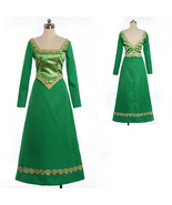 The Shrek Princess Fiona Dress Princess Cosplay Costume Fancy Dress - $96.68