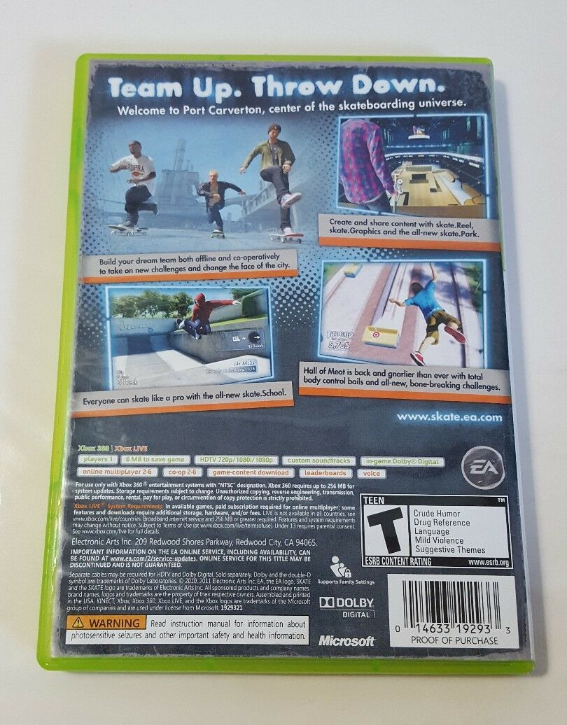 Skate 3 - Xbox 360 GH Video Game CIB Complete image 2