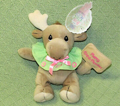 "8"" PRECIOUS MOMENTS CHRIS MOOSE CHRISTMAS BEAN BAG ENESCO PLUSH WITH HAN... - $14.85"