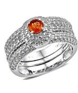 Spessartite Garnet Ring RARE  NATURAL ORANGE  Size 9 - $93.16
