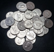 Full Roll of 1964 Canada Nickels (5 Cents) - 40 Circulated Coins - Flat ... - $5.01
