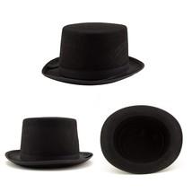 Adorox Sleek Felt Black Top Hat Fancy Costume Party Accessory (Black (1 ... - €8,83 EUR