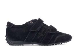 Car Shoe By Prada Women's Black Suede Fastener Sneakers Size IT35/US5~RT... - $118.75