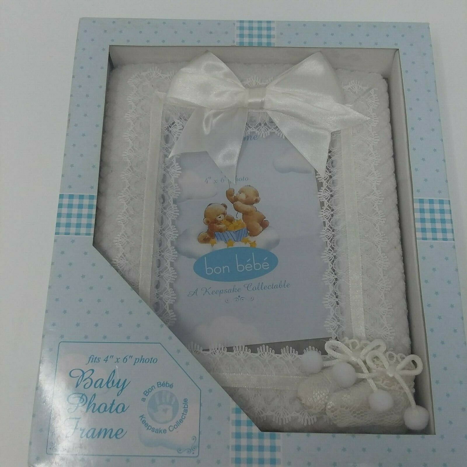 Primary image for Bon Bebe  Keepsake Collectible 4 x 6 Photo Picture Frame NIB Boy or Girl Infant