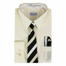 Berlioni Italy Toddlers Kids Boys Dress Shirt Tie & Hanky Set w/Defect Size 12 image 1