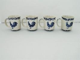 Folk craft blue rooster 4 mugs 1  1  thumb200