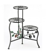 Plant Stand, Iron Plant Stands Indoor Tall - Black, Country Apple - $38.20