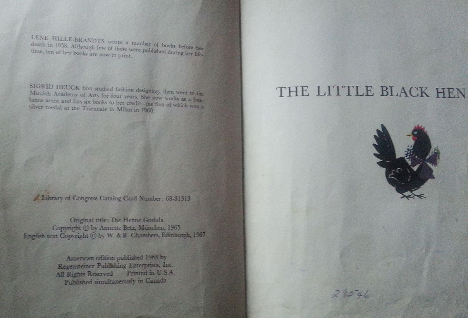 The Little Black Hen by Lene Hille-Brandts 1968 HB