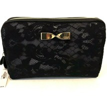 NEW Victoria's Secret Black Lace Small Cosmetic/ Beauty Bag W/TAGS.. - $14.50