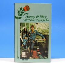 SONNY & CHER All I Ever Need Is You Cassette KAPP Cat. K7-3660, 1972  - $18.00
