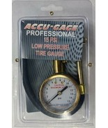 Accu-Gage RA15X Professional Tire Low Pressure Gauge 0-15 PSI Right Angl... - $13.86