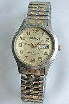Vintage Benrus BNW712 Men's Two Tone Wrist Watch,Day Date Men's Man's - $23.76