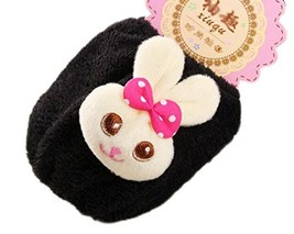 Set of 2 Plush Baby Sleeves Arm/Foot Covers Baby Clothes Accessories -Black - $17.74