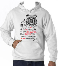 British Bulldog Is The Only Thing - New Cotton White Hoodie - $39.55
