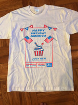 HAPPY BIRTHDAY AMERICA  JULY 4 TH t-shirt gildan reprint - $25.99+