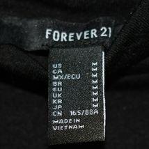 Forever 21 Solid Black Long Sleeve Mock Neck Plain Shirt Top Size M image 3