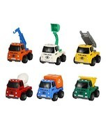 Construction Truck Toys Friction Powered Vehicles Set of 6 - Dump Truck,... - $323,74 MXN