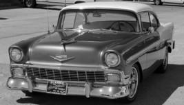 1956 Chevy Bel Air b&w 24X36 inch poster, sports car, muscle car - $18.99